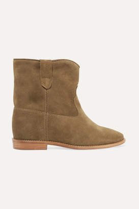 Isabel Marant Crisi Suede Ankle Boots - Brown
