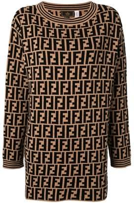 Fendi Pre-Owned Zucca pattern knitted jumper