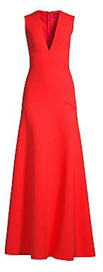 SOLACE London Women's Seine V-Neck Sleeveless Gown