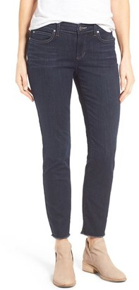 Women's Eileen Fisher Stretch Organic Cotton Frayed Ankle Jeans $178 thestylecure.com