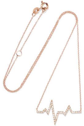 Patron Dame De 18 Carats Rose Collier De Diamants D'or - Une Taille Diane Kordas tosLTEJvY