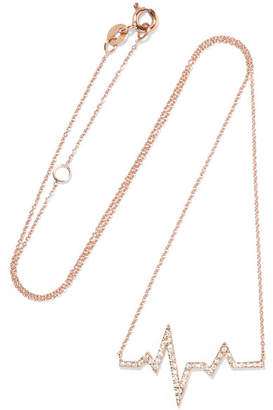 Boss Lady 18-karat Rose Gold Diamond Necklace - one size Diane Kordas Fn9WfPPVE