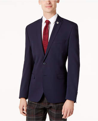 Nick Graham Men's Slim-Fit Navy Textured Jacket