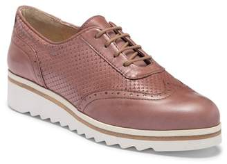 Manas Design Perforated Lace-up Flatform Shoe