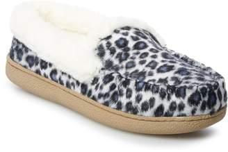Sonoma Goods For Life Women's SONOMA Goods for Life Leopard Moccasin Slippers