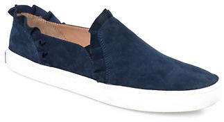 Kate Spade Lilly Ruffle Slip-On Suede Sneakers