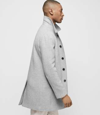 Reiss LANCECROFT Wool-blend overcoat