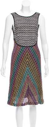 Missoni Pattern Knit Sleeveless Midi Dress