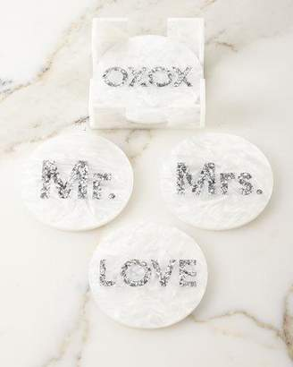 Edie Parker Round Bridal Coasters, Set of 4