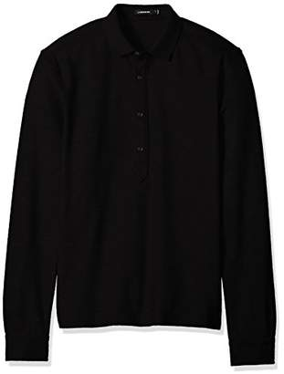 J. Lindeberg Men's Long Sleeve Cotton Polo Shirt