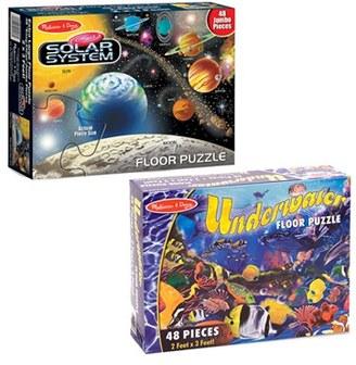 Toddler Melissa & Doug Solar System & Underwater Floor Puzzles $25.99 thestylecure.com