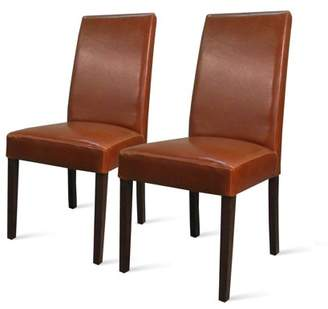 Hartford NPD Parson Dining Chair With Wenge Brown Legs (Set of 2), Multiple Colors