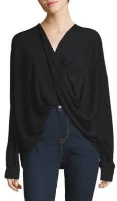 Donna Karan Faux Wrap Sweater