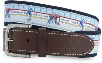 Vineyard Vines Hockey Rink Canvas Club Belt