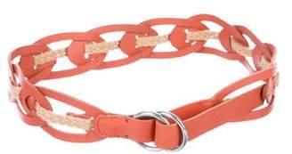 Linea Pelle Jute-Trimmed Leather Belt