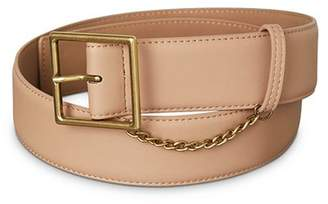 BCBGeneration Chain-Trim Faux Leather Belt