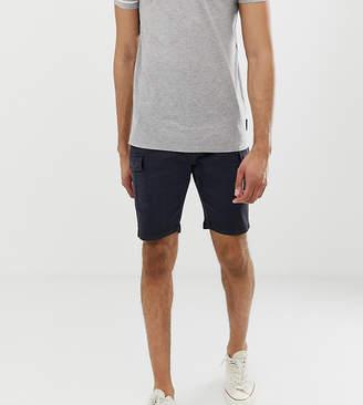 Brave Soul slim fit cargo shorts in navy