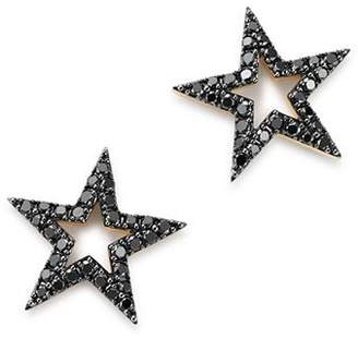 Bloomingdale's Black Diamond Star Stud Earrings in 14K Yellow Gold, 0.33 ct. t.w. - 100% Exclusive