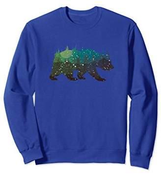 Bear Double Exposure Woods Water Color Sweatshirt