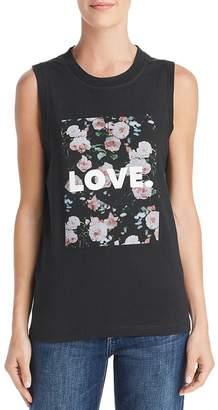 5e3e8e78 Rebecca Minkoff Love & Roses Sleeveless Graphic Tee