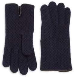 Honeycomb-Knit Cashmere Gloves