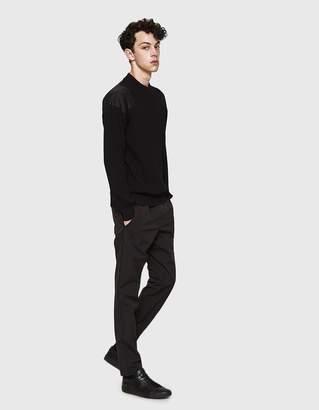Jil Sander Crewneck Panel Sweater in Black
