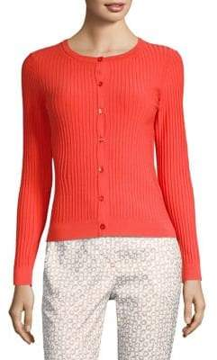 Peserico Ribbed Button-Front Cardigan