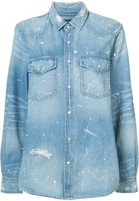 Amiri western paint denim shirt