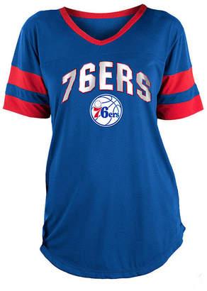 5th & Ocean Women Philadelphia 76ers Mesh T-Shirt