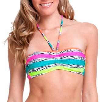 OP Juniors' Swim Zebra Stripe Bandeau Bikini Swimsuit Top