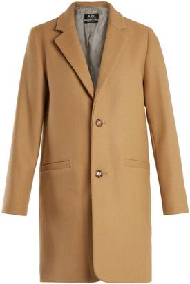 Carver single-breasted wool-blend coat