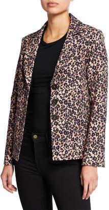 Nanette Lepore Bon Voyage Leopard-Print Blazer