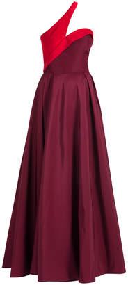 Carolina Herrera One Shoulder Gown