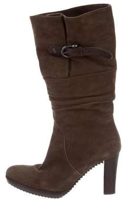 Henry Beguelin Mid-Calf Ruched Boots