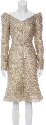 Zac Posen Metallic Textured Dress w/ Tags