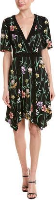 BCBGMAXAZRIA Crossover A-Line Dress