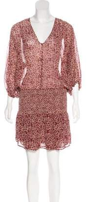 Ulla Johnson Silk Floral Print Dress