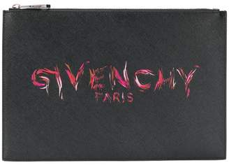 Givenchy printed logo clutch
