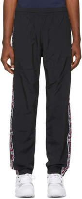 Champion Reverse Weave Black Jacquard Logo Tape Track Pants