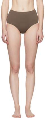 Her Line Brown Classic High-Waist Bikini Briefs