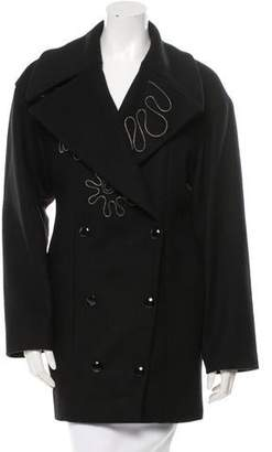 Stella McCartney Zip-Trimmed Wool Coat w/ Tags