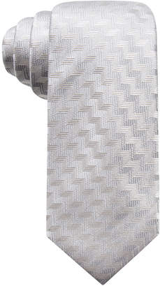 Alfani Men's Errol Slim Chevron Stripe Silk Tie