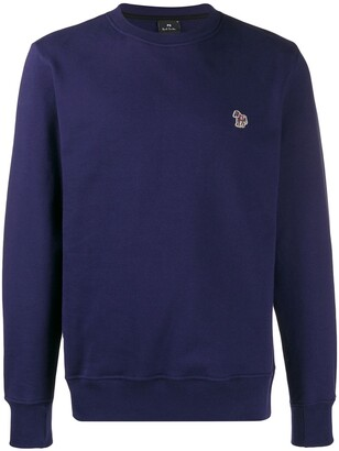 Paul Smith patch long-sleeved sweatshirt