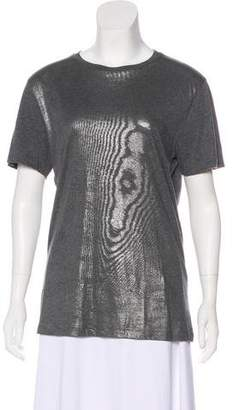 Emporio Armani Iridescent Short Sleeve Top