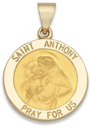 Anthony Logistics For Men FINE JEWELRY 14K Yellow Gold Saint Medal Charm Pendant