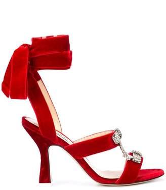 ATTICO ankle fastened sandals
