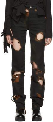 Ottolinger Black Burned Holes Jeans