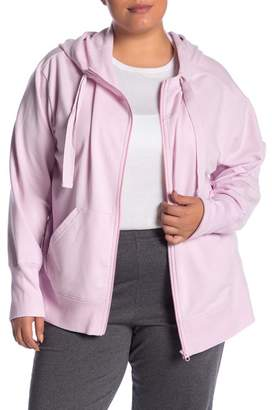 Zella Z By Solaris Fleece Zip Hoodie (Plus Size)