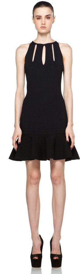 Alexander McQueen Slash Halter Dress in Black
