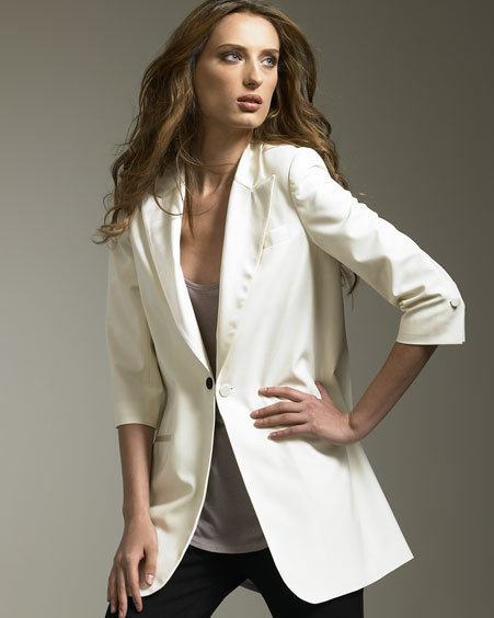 Elizabeth and James James Tuxedo Blazer, White